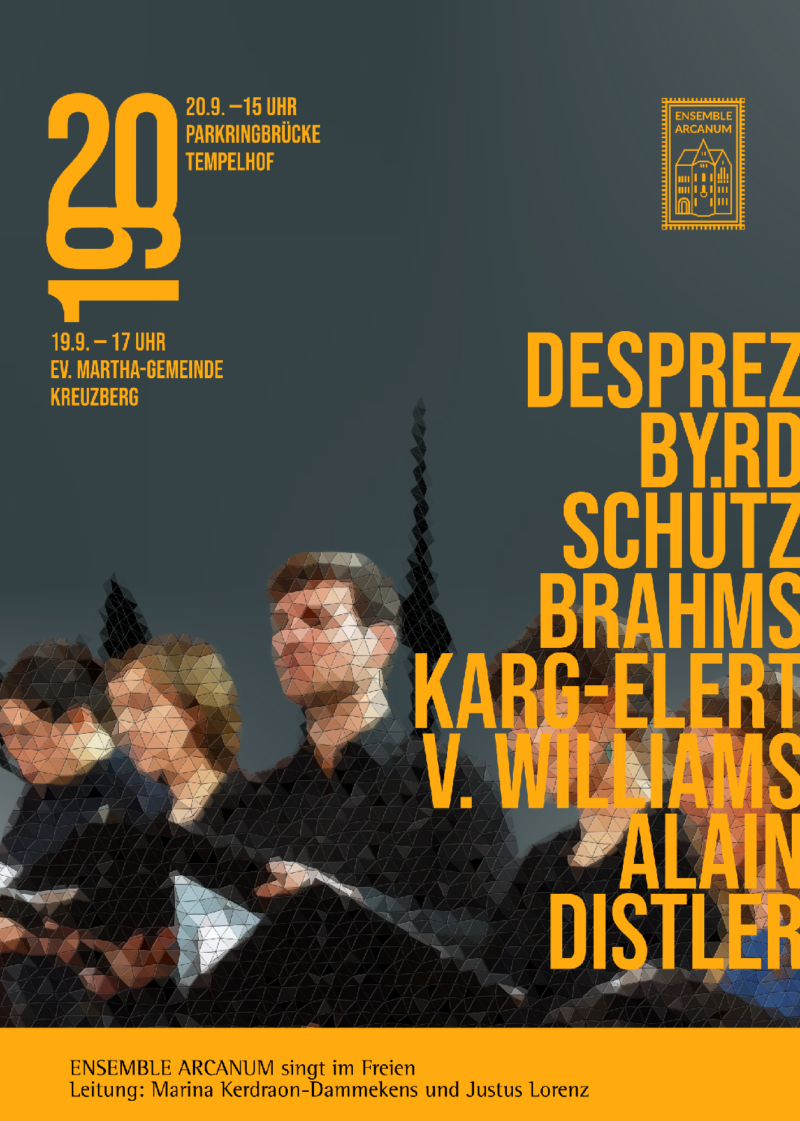 Konzertplakat Ensemble ARCANUM Herbst 2020